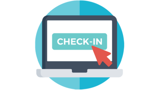 Hotel online check-in/check-out system